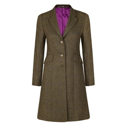 Magee 1866 Green Grace Checked Donegal Tweed Coat