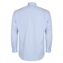 Blue & White Pin Check Dress Collar Classic Fit Shirt
