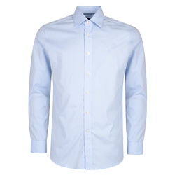 Magee 1866 Blue & White Pin Check Dress Collar Classic Fit Shirt