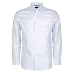 Magee 1866 Blue Formal Micro Design Dress Collar Classic Fit Shirt