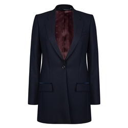Magee 1866 Navy Wool Moyne Boyfriend Jacket
