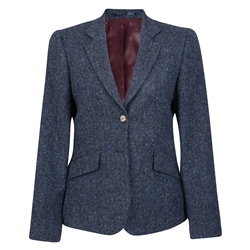Magee 1866 Navy Sarah Donegal Tweed Salt & Pepper Jacket