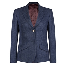 Magee 1866 Navy Alicia Herringbone Donegal Tweed Jacket