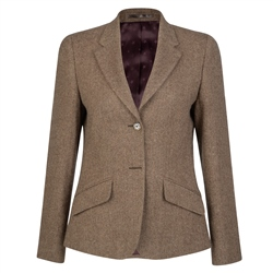 Magee 1866 Camel Alicia Herringbone Donegal Tweed Jacket