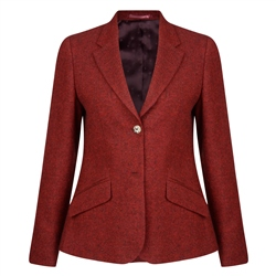 Magee 1866 Red Alicia Salt & Pepper Donegal Tweed Jacket