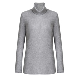 Magee 1866 Luxury Grey Cashmere Roll Neck Jumper