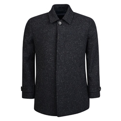 Charcoal Salt & Pepper Edergole Donegal Tweed Coat