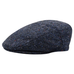 Magee 1866 Navy, Coloured Fleck Donegal Tweed Cap