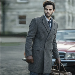 Magee 1866 Arranmore Double Breasted Donegal Tweed Coat