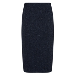 Magee 1866 Navy Salt & Pepper Donegal Tweed Dana Skirt