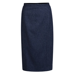 Magee 1866 Navy Herringbone Donegal Tweed Dana Skirt