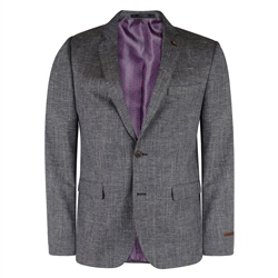 Magee 1866 Grey & Navy Checked 3-Piece Tailored Fit Suit