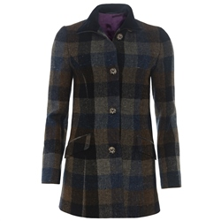 Magee 1866 Blue, Grey, Navy & Brown Donegal Tweed Linsfort Coat