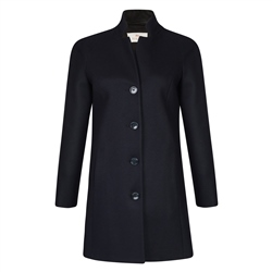 Magee 1866 Navy Wool & Cashmere Olivia Coat