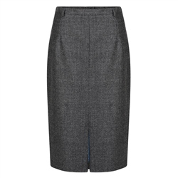 Magee 1866 Grey Micro Check Penelope Skirt