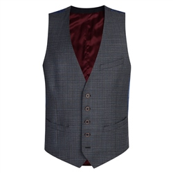 Charcoal Micro Check 3-Piece Tailored Fit Waistcoat