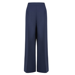 Magee 1866 Willow Navy Wide Leg Trousers