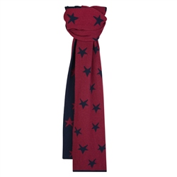 Magee 1866 Navy & Burgundy Double Sided Scarf