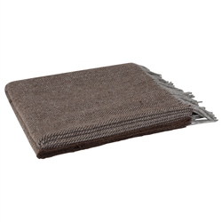 Magee 1866 Brown Herringbone Throw