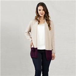 Magee 1866 Oat & Purple Ava Cardigan