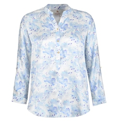 Magee 1866 Blue Liberty Print Harriet Silk Blouse