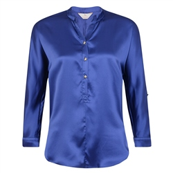 Magee 1866 Blue Harriet Silk Blouse