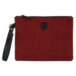 Magee 1866 Red Salt & Pepper Donegal Tweed Clutch Bag