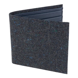 Magee 1866 Blue Salt & Pepper Donegal Tweed Leather Wallet