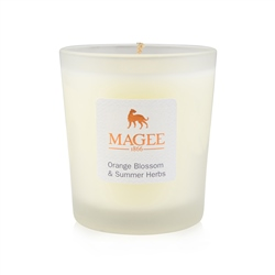 Orange Blossom & Summer Herbs Natural Wax Candle