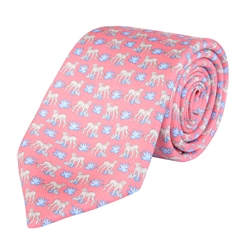 Magee 1866 Cheetah Print, Pink Classic Silk Tie