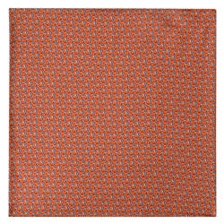 Magee 1866 Dolphin Print, Orange Silk Pocket Square