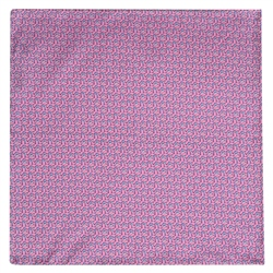 Magee 1866 Dolphin Print, Pink Silk Pocket Square