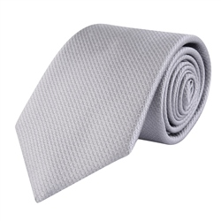 Magee 1866 Grey Woven Classic Silk Tie