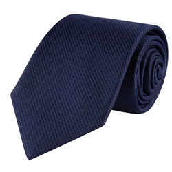 Magee 1866 Navy Woven Classic Silk Tie