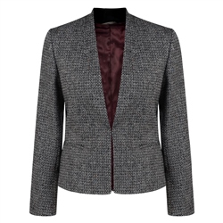Magee 1866 Black & White Geometric Weave Rossbeg Jacket