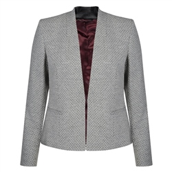 Magee 1866 Grey Geometric Weave Rossbeg Jacket