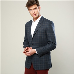 Magee 1866 Blue Checked Classic Fit Jacket