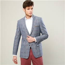 Magee 1866 Blue, Raspberry & Pink Overcheck Classic Fit Blazer