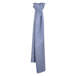 Magee 1866 Blue Checked Silk Scarf
