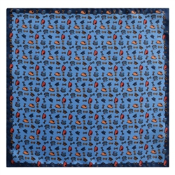 Magee 1866 Blue Printed Silk Pocket Square