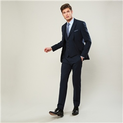 Navy Micro Design 3-Piece Tailored Fit Trouser