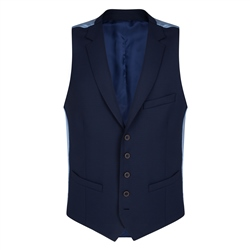 Magee 1866 Navy Micro Design 3 Piece Tailored Fit Waistcoat