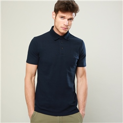 Magee 1866 Navy Marfagh Cotton Polo Shirt
