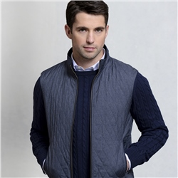 Magee 1866 Navy Akeeran Reversible Classic Fit Gilet