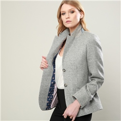 Magee 1866 Grey Alicia Herringbone Jacket