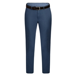 Magee 1866 Blue Braide Washed Look Tailored Fit Trousers