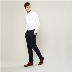 Magee 1866 Navy Braide Washed Look Tailored Fit Trouser