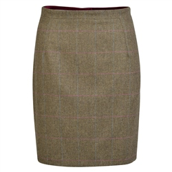 Magee 1866 Green Checked Carey Donegal Tweed Tailored Fit Skirt