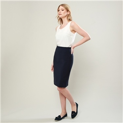 Magee 1866 Navy Dana Tailored Fit Skirt