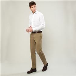 Magee 1866 Taupe Dungloe Washed Classic Fit Trouser